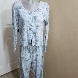 Victoria's secret blue floral pajama pjs